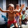 SANTIAGO DE CUBA. KIDS PLAYING ON THE STREET.SANTIAGO DE CUBA PROVINCE. CUBA.