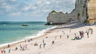 La playa de Etretat