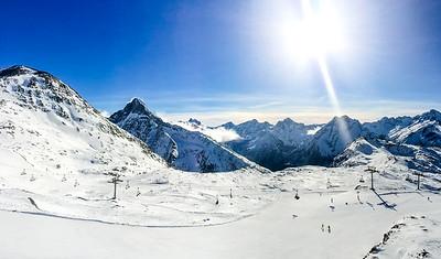 El esquí en los Alpes