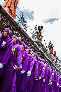 Holy Week processions in Antigua