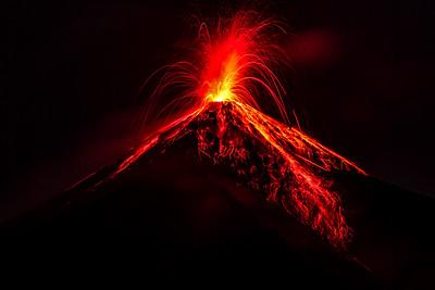 Fuego volcano near Antigua Guatemala
