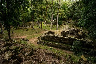 Copan, archaeological site of the Maya civilization - Honduras border