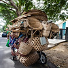 ILOCOS. TRICYCLE PACKED WITH BASKETS FOR SALE. [2]