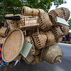 ILOCOS. TRICYCLE PACKED WITH BASKETS FOR SALE.