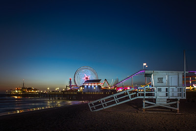 Nightfall on Santa Monica Pier
