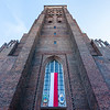 Facade of St. Mary's Church in Gdansk, Poland