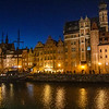 Long Embankment (Dlugie Pobrzeze) in the evening, Gdansk, Poland
