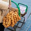 Polish bread / bagel seller in Warsaw, Poland - Europe