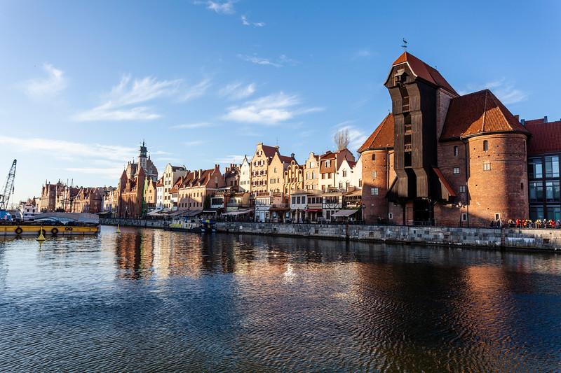 Gdansk Crane on the Motlawa's Long Embankment in Gdansk, Poland