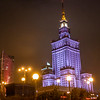 The Palace of Culture and Science (former: Joseph Stalin Palace of Culture and Science) in Warsaw, Poland - Europe