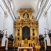 Interior and altar of the Holy Cross Church in Warsaw, Poland, Europe
