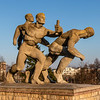 Statues at the National Stadium (Stadion Narodowy) in Warsaw, Poland - Europe