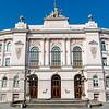 Facade of the Warsaw Univeristy of Technology (Politechnika Warszawska), Poland, Europe