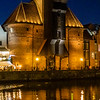 Medieval Crane (Zurow) in the evening - Gdansk, Poland