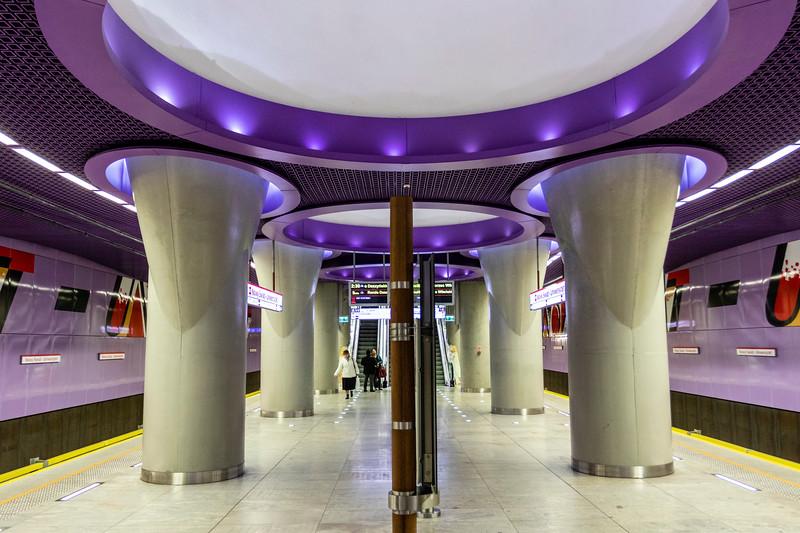 Nowy Swiat metro station, underground of Warsaw, Poland - Europe