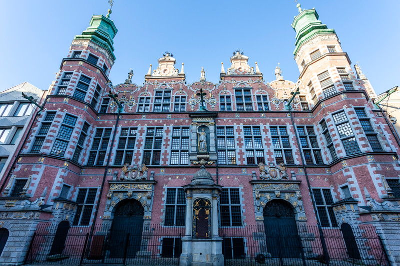 Exterior of the Great Arsenal in Gdansk, Poland