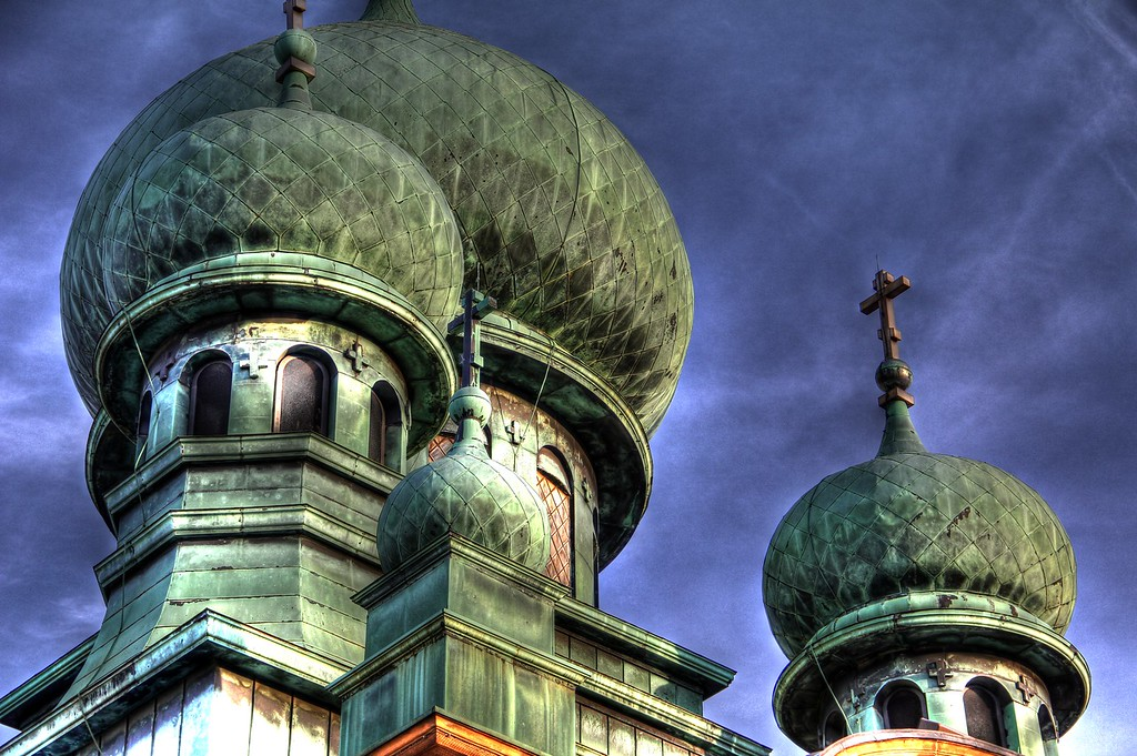 St. Theodosius Orthodox Cathedral, Tremont, Cleveland OHIO<br /> <br /> For sale on canvas at Wine & Design in Tremont and The Nest in Tremont