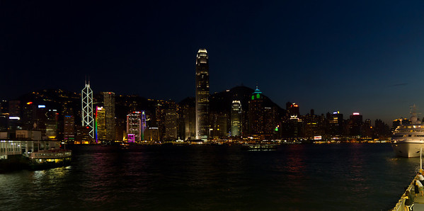 Hong Kong Central Skyline
