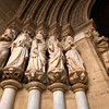 SCULPTURES. ENTRANCE SE CATHEDRAL. EVORA. ALENTEJO. PORTUGAL.