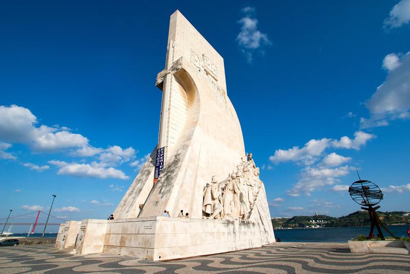 LISBON. LISBOA. BELEM. MONUMENTO DOS DESCOBRIMENTOS. MONUMENT TO THE DISCOVERIES. HENRY THE NAVIGATOR.