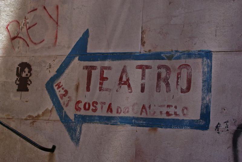 TEATRO COSTA DO CASTELO SIGN. LISBOA. PORTUGAL.