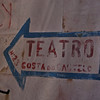 TEATRO COSTA DO CASTELO SIGN. LISBOA. PORTUGAL.