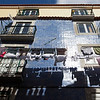 LISBON. LISBOA. BAIXO CHIADO. LAUNDRY DRYING IN THE SUN.