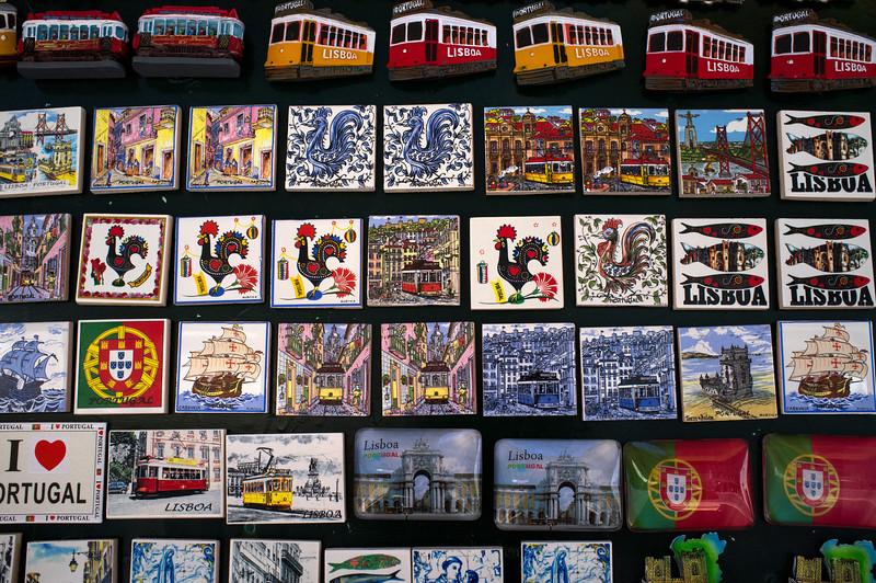 LISBON. PORTUGAL. TOURIST MERCHANDISE. LISBON MAGNETS. [4]