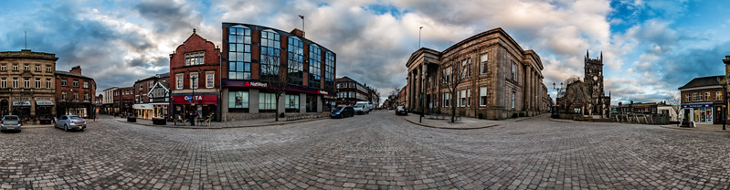 Macclesfield Town Centre 360 degree panorama