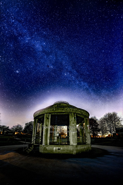 South Park Macclesfield Bandstand Under the Milky Way