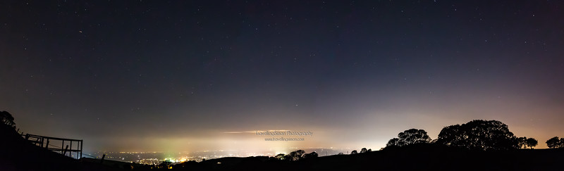 Night Panorama of Greater Manchester from Tegg's Nose