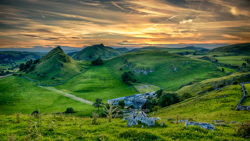 Parkhouse Hill and Chrome Hill in the Peak District, U.K.