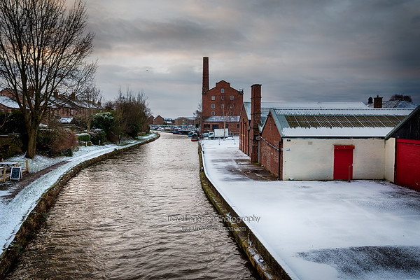 Hovis Mill and Macclesfield Canal in the Snow