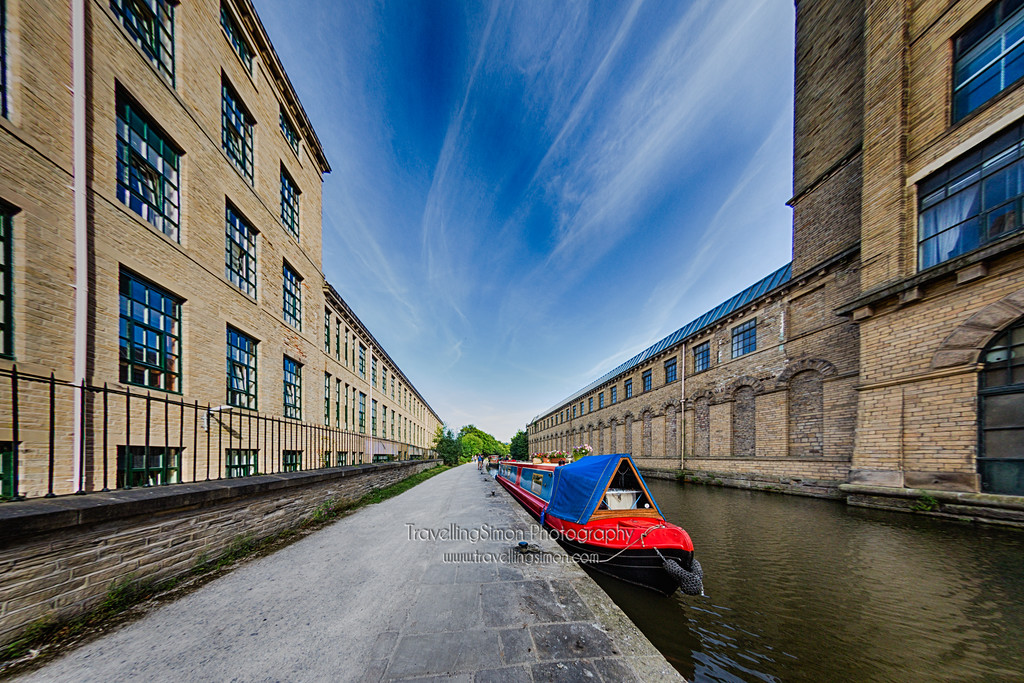 Canal Barge at Salt's Mill Saltaire
