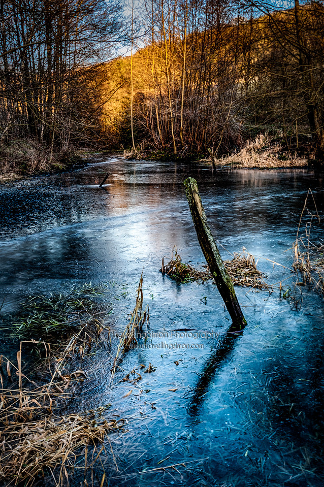 Coombes Valley RSPB reserve in Winter