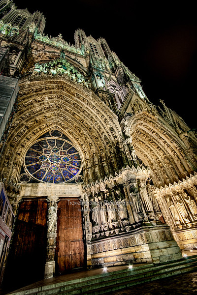 I discovered the beautiful Cathedral Notre-Dame de Reims walking around the city having arrived there on a road trip to the Alps in 2009.   I fell in love with the gothic architecture and returned that night to take a series of long exposures with the dramatic lighting. <br /> To ensure the highest quality I went back to the RAW files and applied my current favoured processing techniques rather than rely on what I had done when I was still very much just learning.<br />  <br /> #cathedral #catholic #church #France #Reims #Notre-Dame #longexposure #nightphotography #lighting #gothinc #medieval #<br /> <br /> All rights reserved.  No commercial use without licence, no reposting without credit or editing is permitted, thanks.