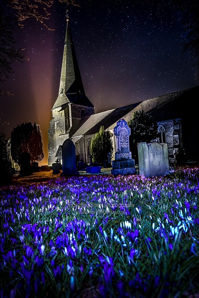 St Peter's Church, Scorton, under the stars