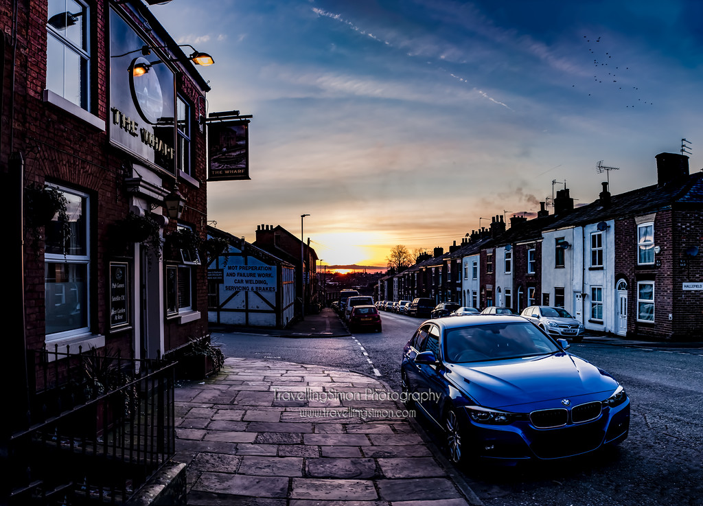 The Wharf Brook Street Macclesfield at Sunset