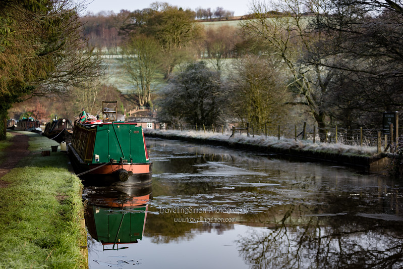 Barges on the Macclesfield Canal at Gurnet