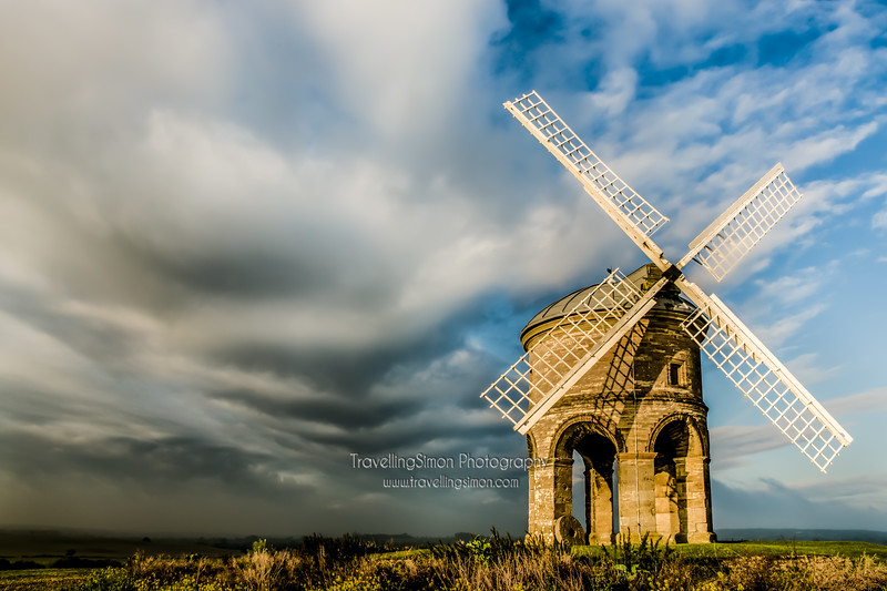 Chesterton Windmill under moody skies