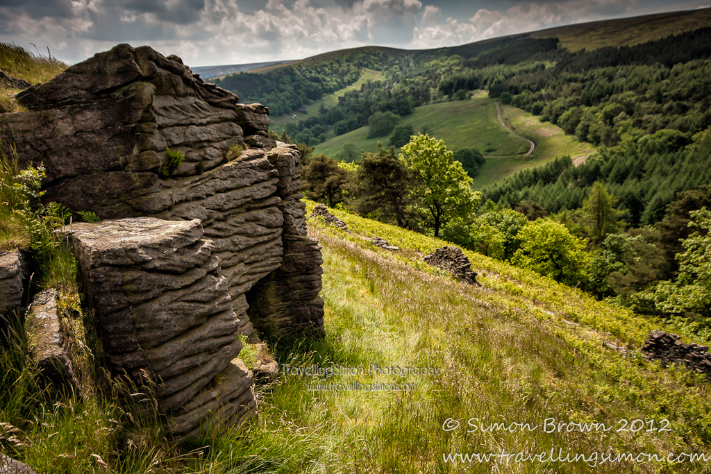 On a walk to search out and discover new places to photograph in the Peak District, near where I live I found this really interesting outcrop in the Goyt Valley