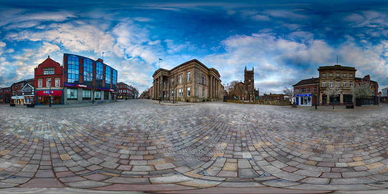 Macclesfield Town Square 360 x 180 degree panorama
