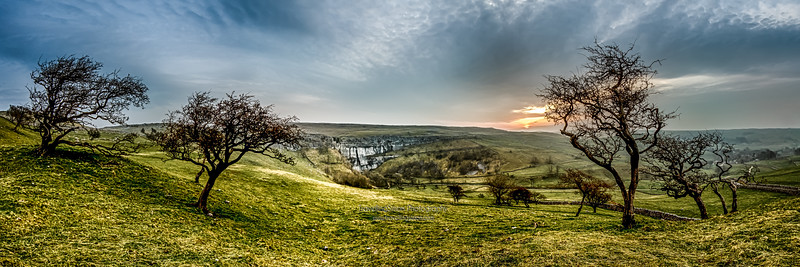 Malham Cove Panorama