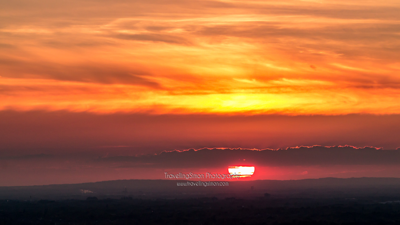 Sunset from Lyme Park