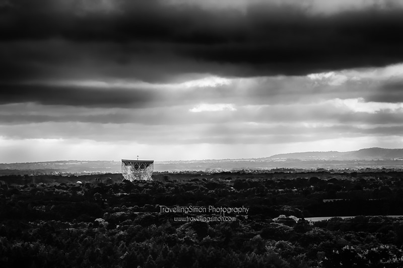 Jodrell Bank and the Cheshire Plain from Macclesfield Forest www.travellingsimon.com - licenced to Local People