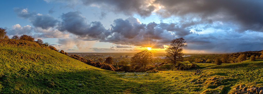 A Stormy Sunset Over Macclesfield