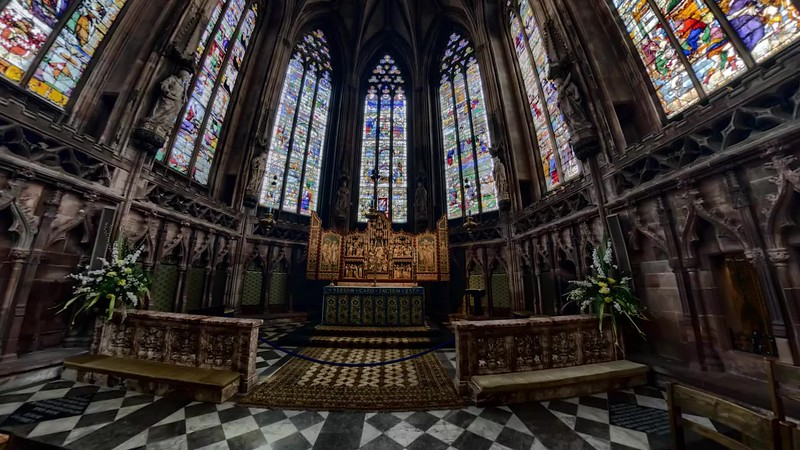 Lichfield Cathedral Lady Chapel - 360 degree stitch and pan
