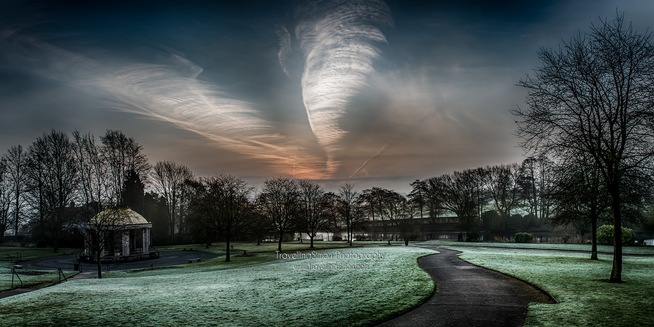 South Park Macclesfield Dawn Panorama
