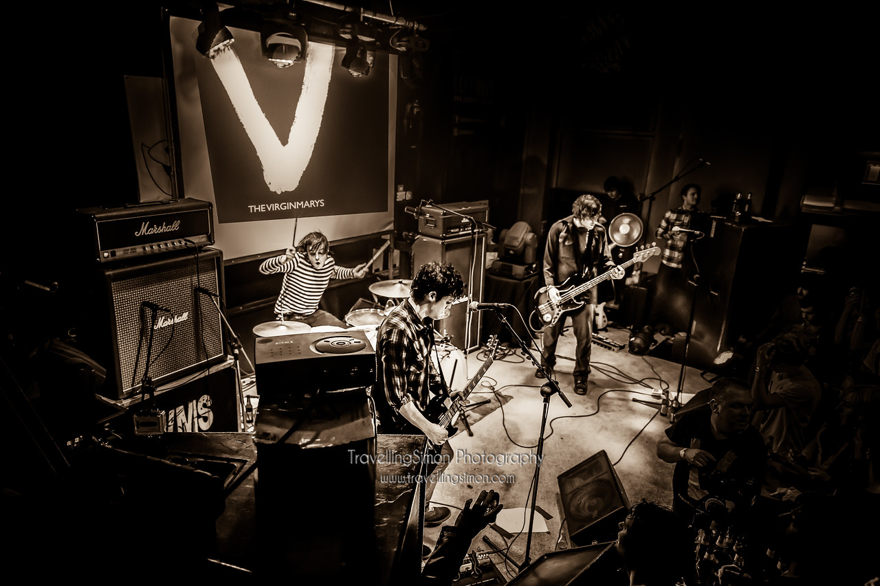 Since I've listened to very little apart from the Virginmarys' King of Conflict album for the last two weeks I thought I'd share another mage from their Christmas homecoming gig at The Snowgoose Live, Macclesfield.  Check out their album, you won't hear better this year or see them on tour.  http://www.thevirginmarys.com/