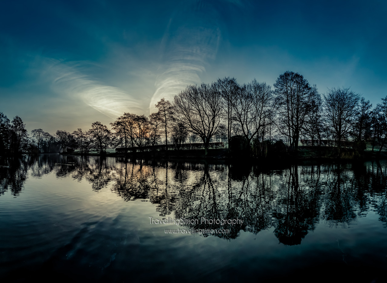 Macclesfield South Park Lake Dawn Panorama